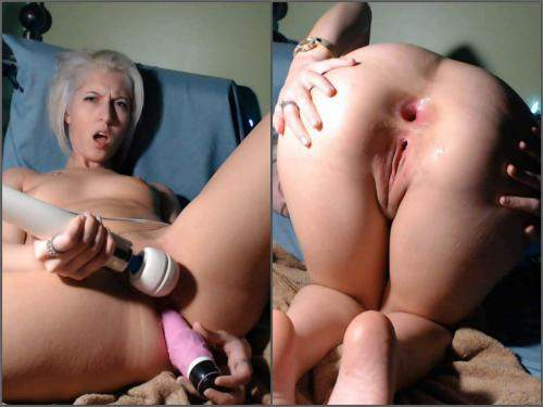 Closeup – CamGirlJade big toy in my tiny asshole anal prolapse webcam