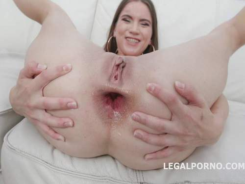 Gaping Asshole – Evelina Darling bad drago dildo fuck and DAP to gaping