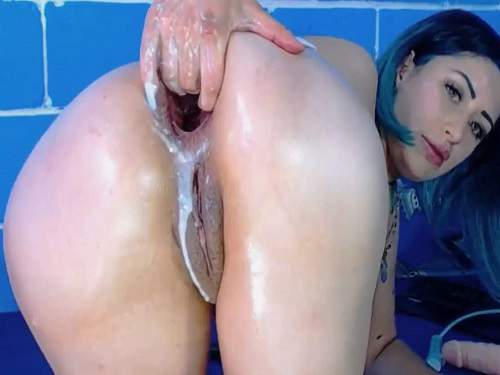 Fucking Machine Videos – Karlakole monster horse dildo insert in amazing anal gape