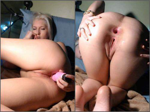 Dildo Anal – Webcam naughty skinny blonde narrow anal gape stretching