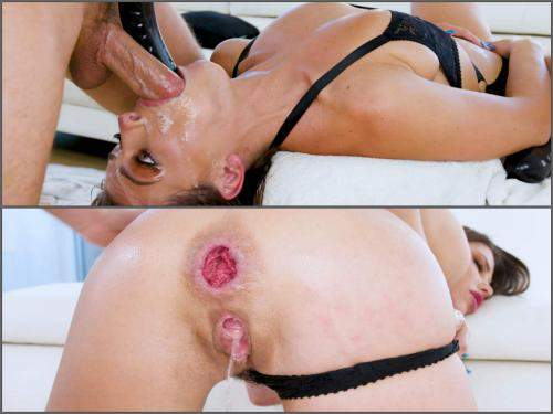 Throat Gaggers – Adriana Chechik rough double deepthroat fuck and anal sex to rosebutt – Premium user Request