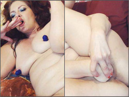 Solo Fisting – Cinnamonngirll double fisting try vaginal and anal