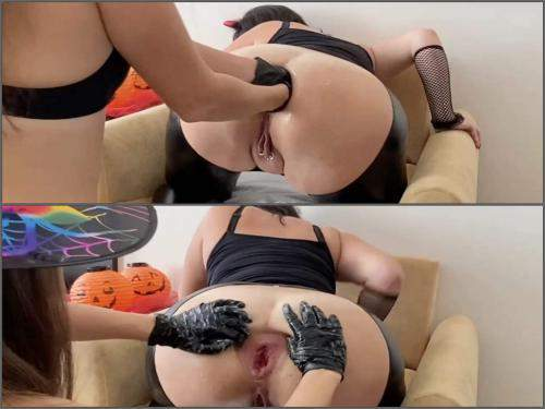 Halloween anal fisting,Halloween porn,Halloween porn 2019,Halloween anal gape,Halloween anal rosebutt,rosebutt anal sex,lesbians fisting,witches fisting