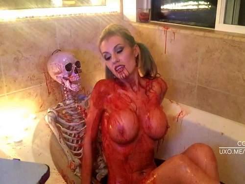 Vampire – Busty vampire MILF TheStellarGF femdom to skelet – unique Halloween porn