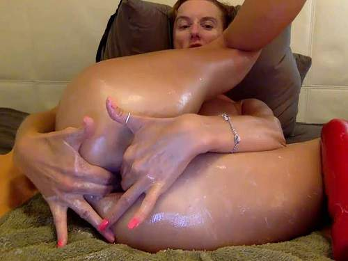 Stretching Gape – Webcam russian large labia girl bbmix996 stretched her gaping hole