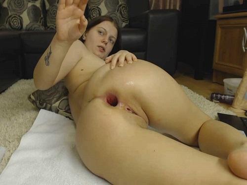 Alexxxkitty anal play,Alexxxkitty anal gape,Alexxxkitty fisting video,girl gets fisted,dildo fuck,big dildo penetration