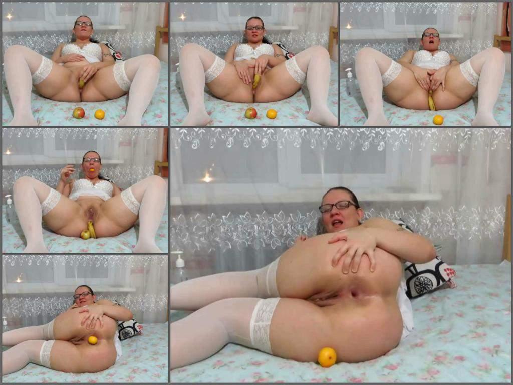 vegetable anal,vegetable porn,apple anal,anal gape loose,food porn,amateur food porn,banana anal,orange anal