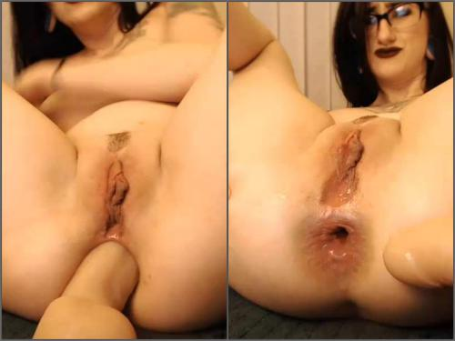 Dildo Porn – Webcam dirty cottontailmonroe insertion dildo in her wet asshole deeply