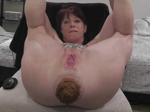 Scat Prolapse – Amateur amazing scat pornstar loose her shocking prolapse