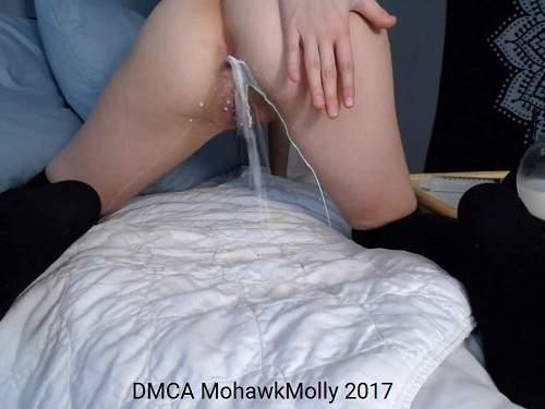 Anal – Cute camgirl milk enema porn webcam closeup
