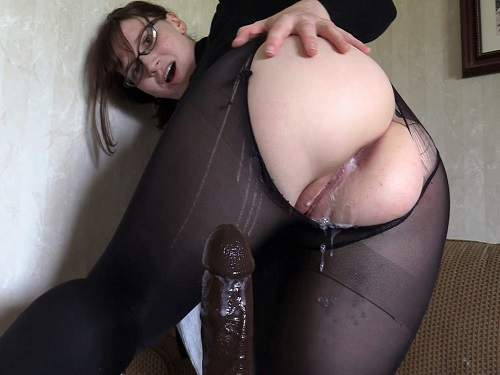 girl anal,dildo anal,dildo riding,anal creampie,creampie porn,pantyhose porn,pantyhose torn,brunette anal