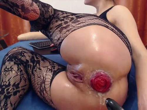 Dildo Anal – Kitty25 fingering and fisting her big anal prolapse webcam