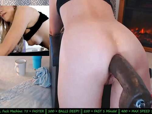 Mature Anal – Hot MILF Wynfreya fucking machine anal driller in doggy style pose