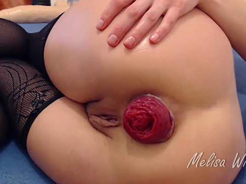 Anal Insertion – Melisa Wide monster toy, triple anal and huge prolapse – Premium user Request