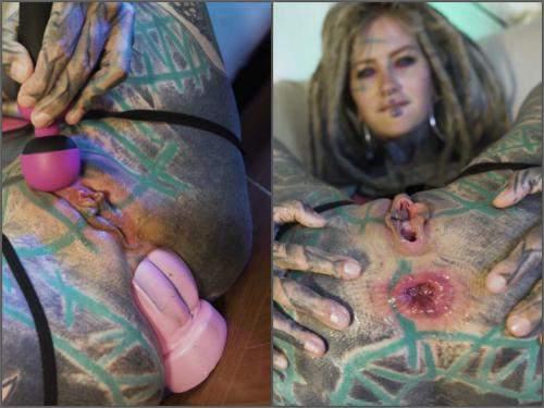 Bad Dragon – Anuskatzz XL taintacle dildo anal play solo female webcam