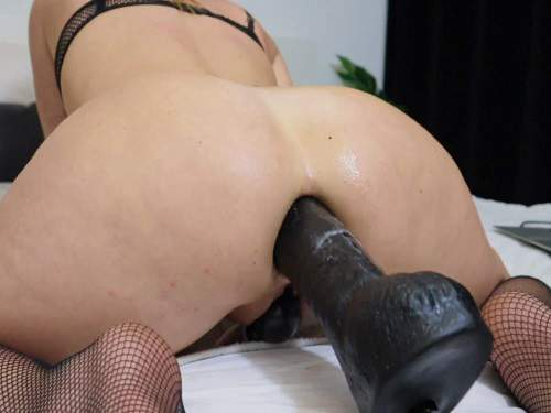 Colossal Dildo – Helena Lana evening of anal fun use lots of big toys