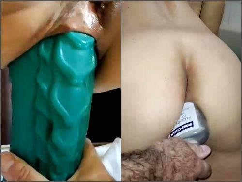 dildo anal,dildo sex,dildo riding,bad dragon dildo,dragon dildo anal sex,bottle anal,bottle anal fuck,alcohol bottle anal