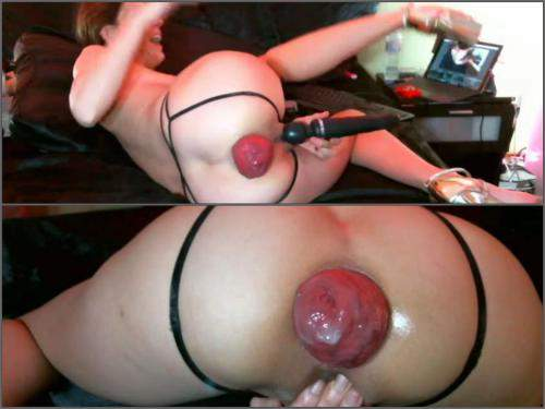 Prolapse Eating – Maria Hella again and again show her big anal prolapse