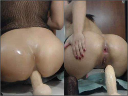 Stretching Gape – Young busty girl Valentynex again loose her sweet narrow gaping hole