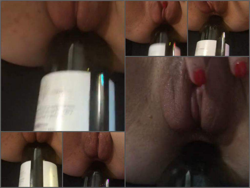 bottle anal,bottle sex,wine bottle sex,wine bottle anal,loose anal,anal hole stretching,POV bottle sex
