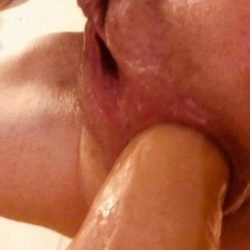 Closeup - AnalOnlyJessa squirting from big dildo in my loose ass – Premium user Request