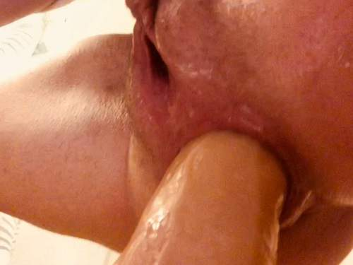 Closeup – AnalOnlyJessa squirting from big dildo in my loose ass – Premium user Request