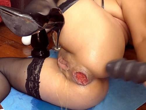 Gape Ass – Alisiya Rainbow ruined anal prolapse homemade again – Premium user Request