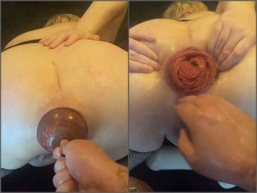 Stretching – Violet Buttercup my most extreme anal play ever – XXXL egg, deep anal and double fisting – Premium user Request