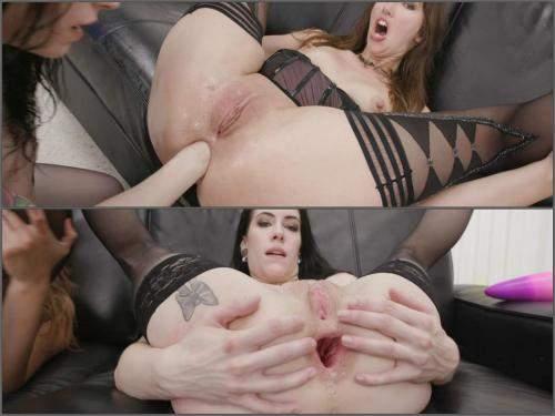 Lesbian Fisting – Anna De Ville and Susan Ayn bad dragon deep anal gape and rosebutt loose