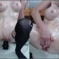 Rosebutt Loose - Silicone tits brunette show her sweet anal rosebutt