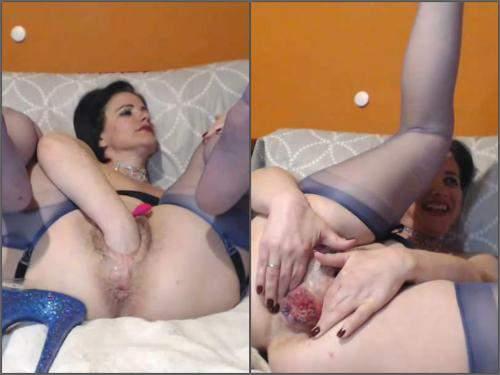 Dildo Anal – Queenvivian sweet anal rosebutt ruined during big apple porn