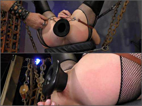 Bondage – Abigail Dupree penetration monster tunnel plug in ass an dpussy