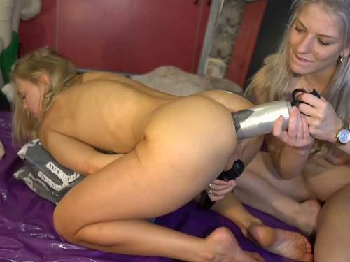 FullHD Porn – New busty bi girl anal dildo domination to her famous pornstar GF