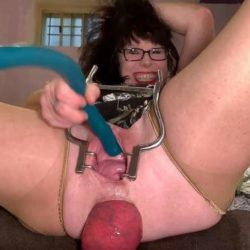 Anal Insertion - MILF penetration long dildo in her peehole and prolapse loose – Premium user Request
