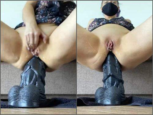Pussy Piercing – Piercing pussy large labia masked blonde Nikoletta_Joy really BBC dildo anal deep