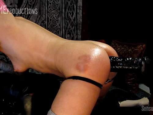 Abigail Dupree – Skinny pornstar Abigail Dupree rides on a huge dildo after spanking
