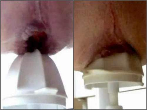 Amateur – Rare amateur xxx – male driller gaping hole with juicer