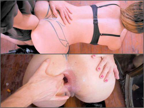 Stretching Gape – Taintacle deep fisting and gape tunnel anal hole in doggy style pose
