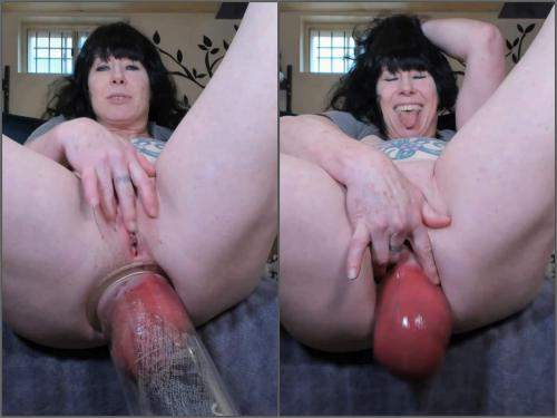 Pump – Amateur mature grow her monster anal prolapse very closeup – Premium user Request