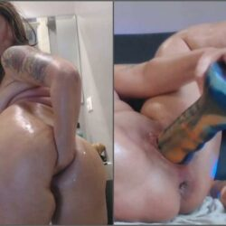 Dildo Porn - Perverted busty MILF penetration fist and monster bad dragon dildo solo