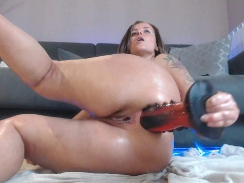 Busty Mature – Little anal rosebutt show after rough anal fuck with dragon dildo