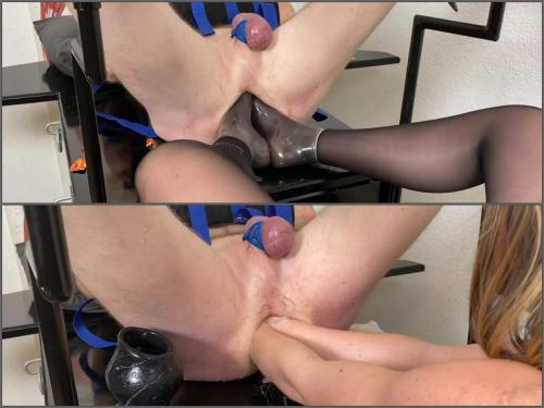 Mistress Domination – Mistress wife double fisting, elbow fisting and footing domination