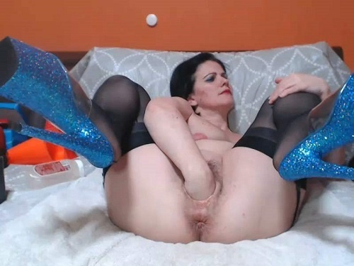 Bad Dragon Dildo – Incredible webcam MILF Viviana76 rosebutt anus loose during balls and dildos penetration