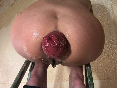 POV – Is back! Maria Hella prolapse on the stepladder – Premium user Request