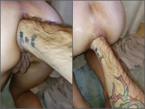 Anal Stretching – Amateur POV fisting sex anal hardcore in doggy style pose with Tawney mae