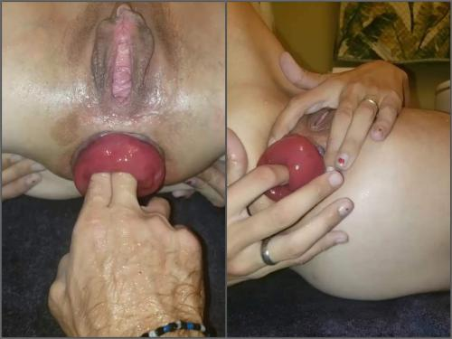 Pov Porn – Sexy large labia pornstar tawney mae pump her anal prolapse