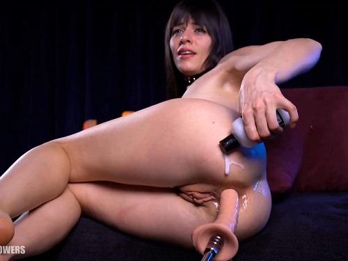 Fucking Machine Porn – Very skinny Natalieflowers hairy pussy porn with fucking machine