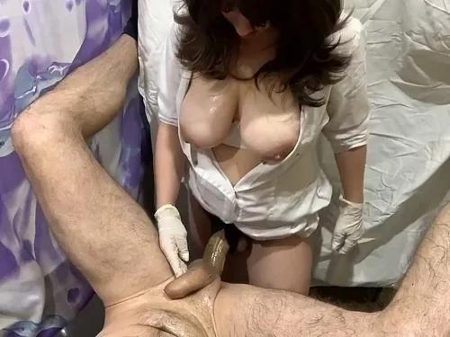 Femdom Sex – Russian busty wife Strapovskaya pegging ass her husband with monster dildo