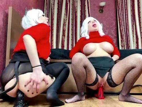 Busty girl – Dismoralica Helltaker Cosplay Demon Lesbian Squirt – Premium user Request