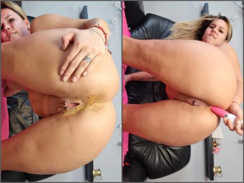 Amateur – Big ass blonde Emeli dirty anal and squirt – Premium user Request